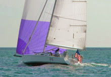 J/105 sailing double-handed on Great Lakes