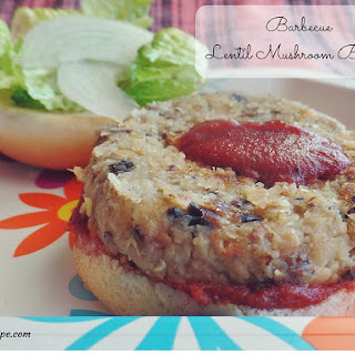 Barbecue Lentil Mushroom Burgers