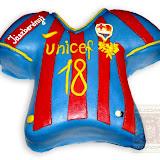 15. kép: Formatorták (fiúknak) - Barcelona mez torta