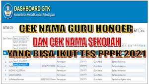 TERBARU, Cek Daftar Nama Honorer Yang Mengikuti PPPK 2021 di Dashboard GTK