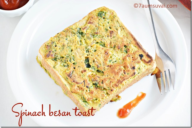 Spinach besan toast