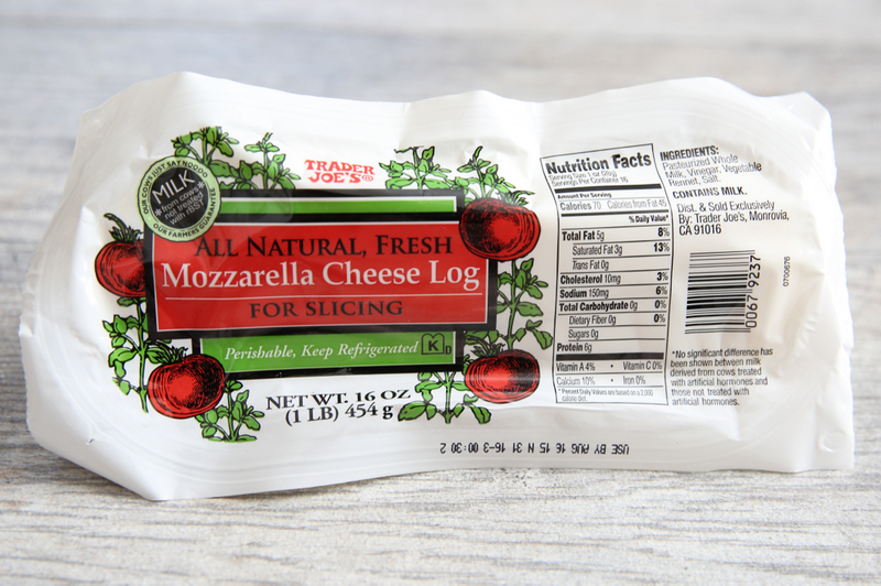 package of Mozzarella Cheese Log