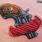 gun - Garter Tattoo