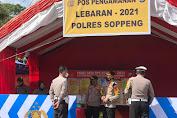Kapolres Soppeng Pantau Personil Yang Bertugas di Perbatasan Jalur Penyekatan Jelang Idul Fitri 1442 H