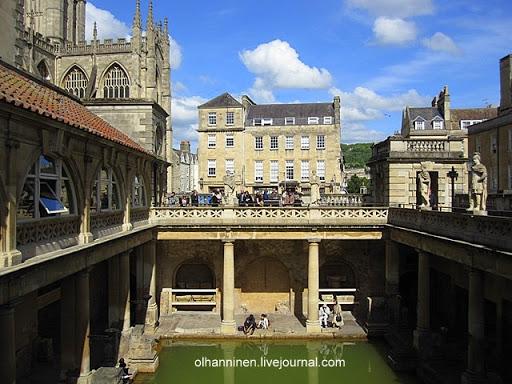 Рассказать про римские бани прекрасного английского города художников, артистов и поэтов Бата