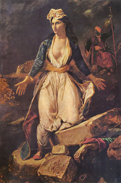 Eugène Delacroix - Greece on the Ruins of Missolonghi (1826)