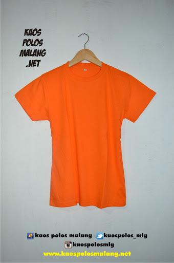 kaos polos malang orange