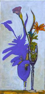 calla lily mum in flute, 12in.x24in.
