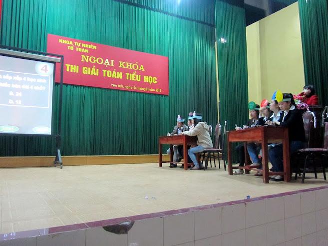 Ngoại khóa Thi giải toán Tiểu học tại Trường Cao đẳng Sư phạm Yên Bái