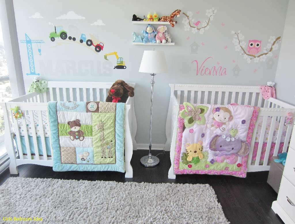 amazing Twins Nursery Boy And Girl Part - 13: Twins Nursery, boy u0026 girl.I like the double themed room idea - Bedroom