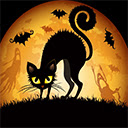 Black Cat Halloween Wallpapers Theme New Tab