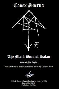 Cover of Christos Beest's Book Codex Saerus (The Black Book of Satan)