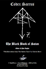 Cover of Christos Beest's Book Codex Saerus (The Black Book of Satan)