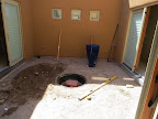 Steve's prep work for electrical/water basin - Oct. 2
