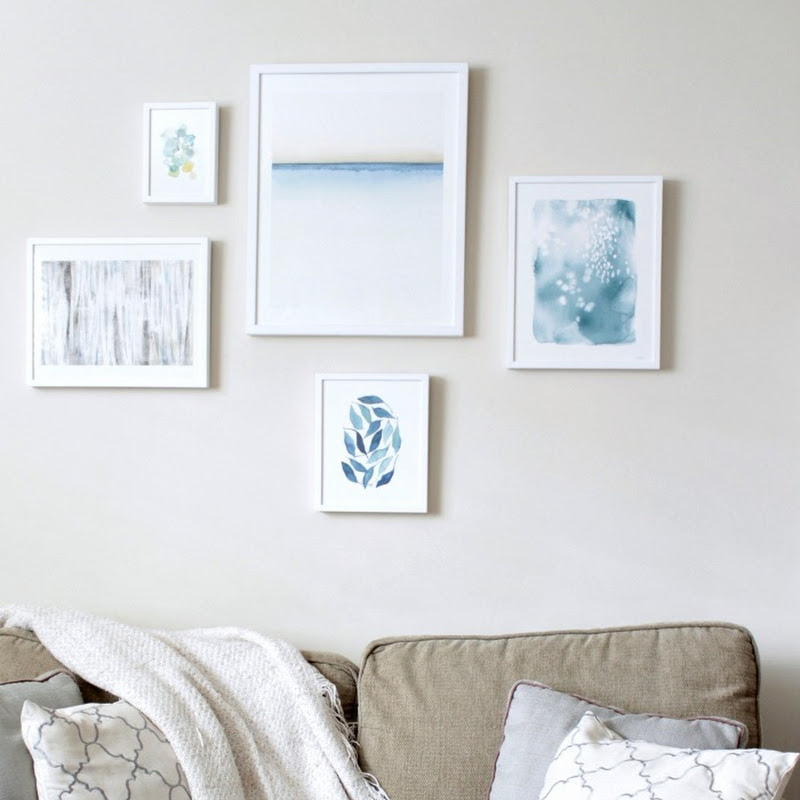 HOMEROOM: Minted Wall Gallery {the blues}