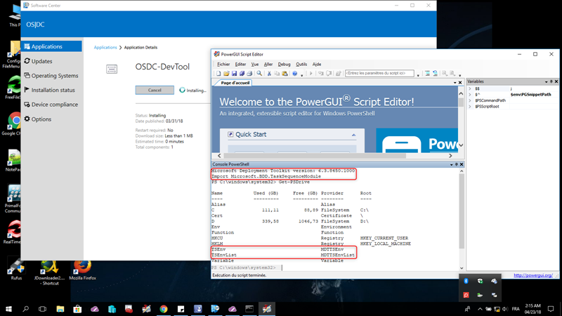 enable windows powershell integrated scripting environment
