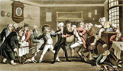 Gevecht in 18e eeuw