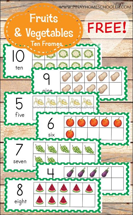Fruits&VeggieTenFrames
