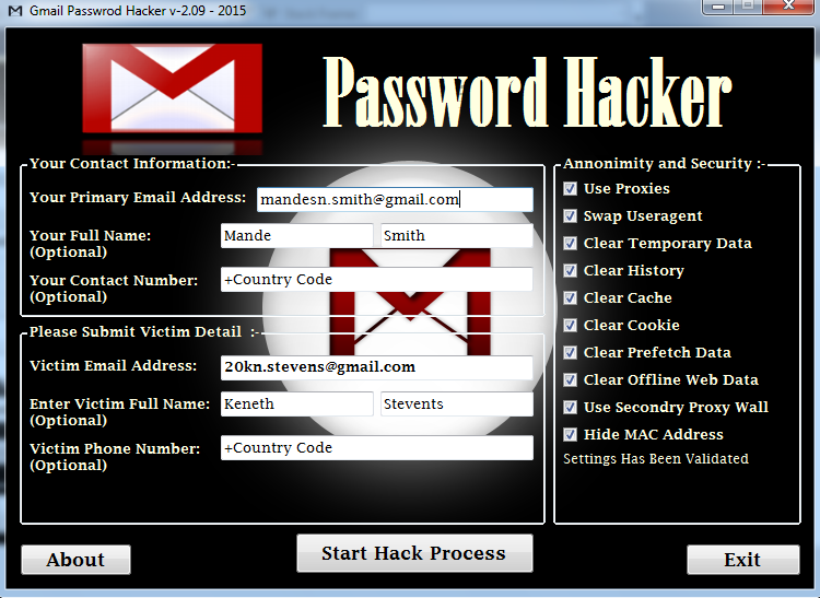 hack gmail password free without any software