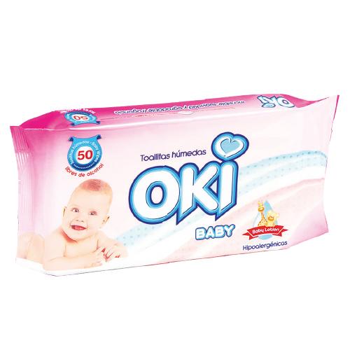 Toallas Humedas Oki Baby Lotion 50 Unidades toallas humedas oki baby lotion 50und