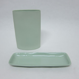 Mud Australia Vase & Tray Set in Mint