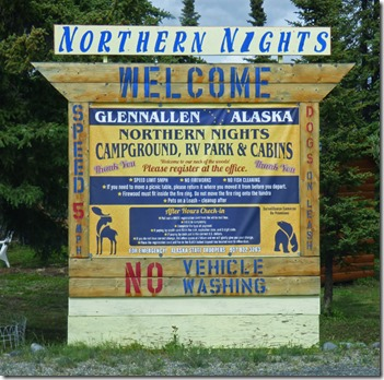 Northern Nights RV Park, Glennallen Alaska