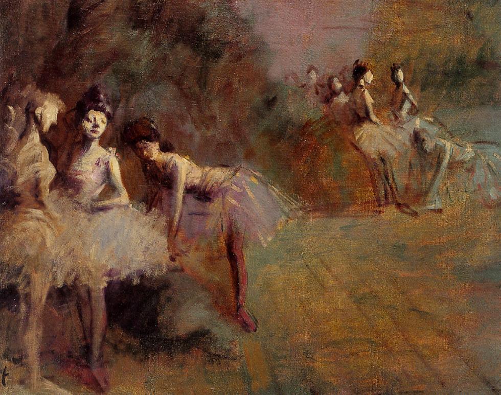 Jean-Louis Forain - Dancers Resting