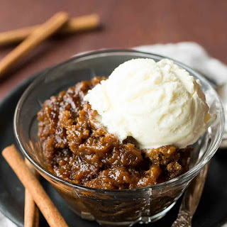 Slow Cooker Gingerbread Pudding Cake.