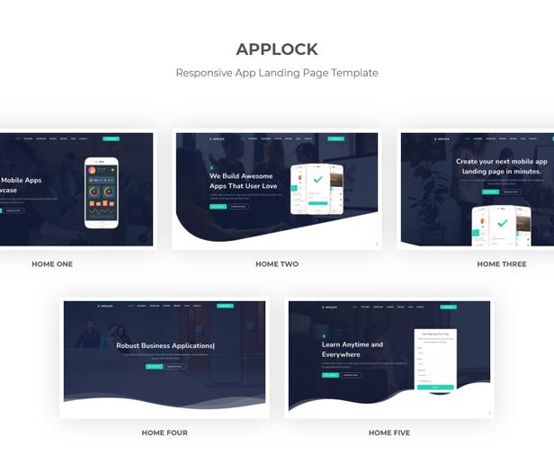 Applock - Responsive App Landing Page Template - 1