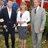 OIC - ENTSIMAGES.COM - HIS EXCELLENCY MR MATTHEW BARZUN, SAMANTHA BOND and HUGH BONNEVILLE at the  Official Reception at US Ambassador's Regents Park Residence  for Special Olympics GB's World Games team London  20th July 2015 Photo Mobis Photos/OIC 0203 174 1069