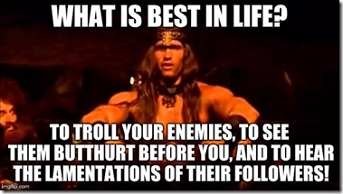 Internet troll Conan meme