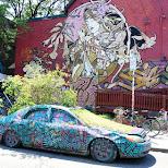 the famous garden car in Kensington Market, Toronto in Toronto, Ontario, Canada