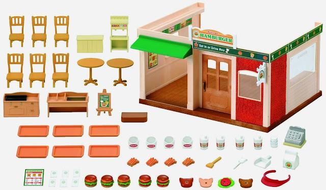 Nhà hàng Hamburger dành cho thú bông với đầy đủ trang thiết bị