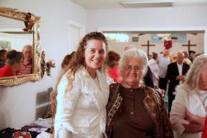 Susan with Senior Pastor, Sis Janet.