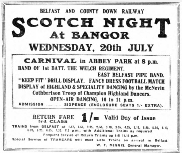Scotch Night Bangor 1938 copy