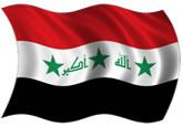 Iraque - bandeira para colorir