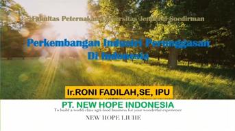 """Kuliah Umum Mahasiswa Peternakan Unsoed  : """"Perkembangan Industri Perunggasan di Indonesia"""""""