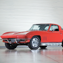 Fond Corvette Stingray Retro icon