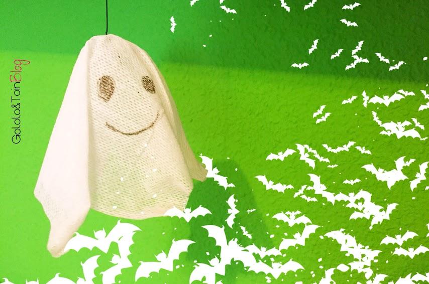 diy-manualidades-niños-halloween-fantasma-gasa