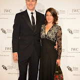 WWW.ENTSIMAGES.COM -  David Morrissey and Esther Freud    arriving at       IWC Schaffhausen and BFI London Film Festival - private dinner at Battersea Evolution, London October 7th 2014Swiss watch brand and British Film Institute host party to celebrate their three year partnership.                                                Photo Mobis Photos/OIC 0203 174 1069