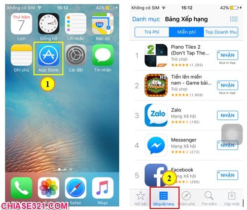 cách tạo tài khoản app store