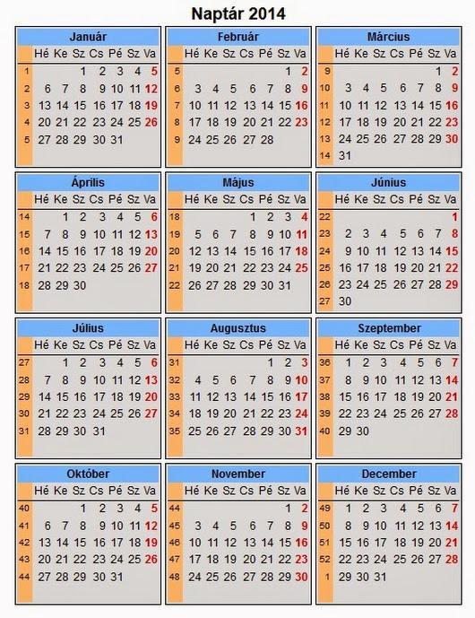 naptár 2o14 2014 es naptár, páratlan és páros hét jelöléssel. naptár 2o14