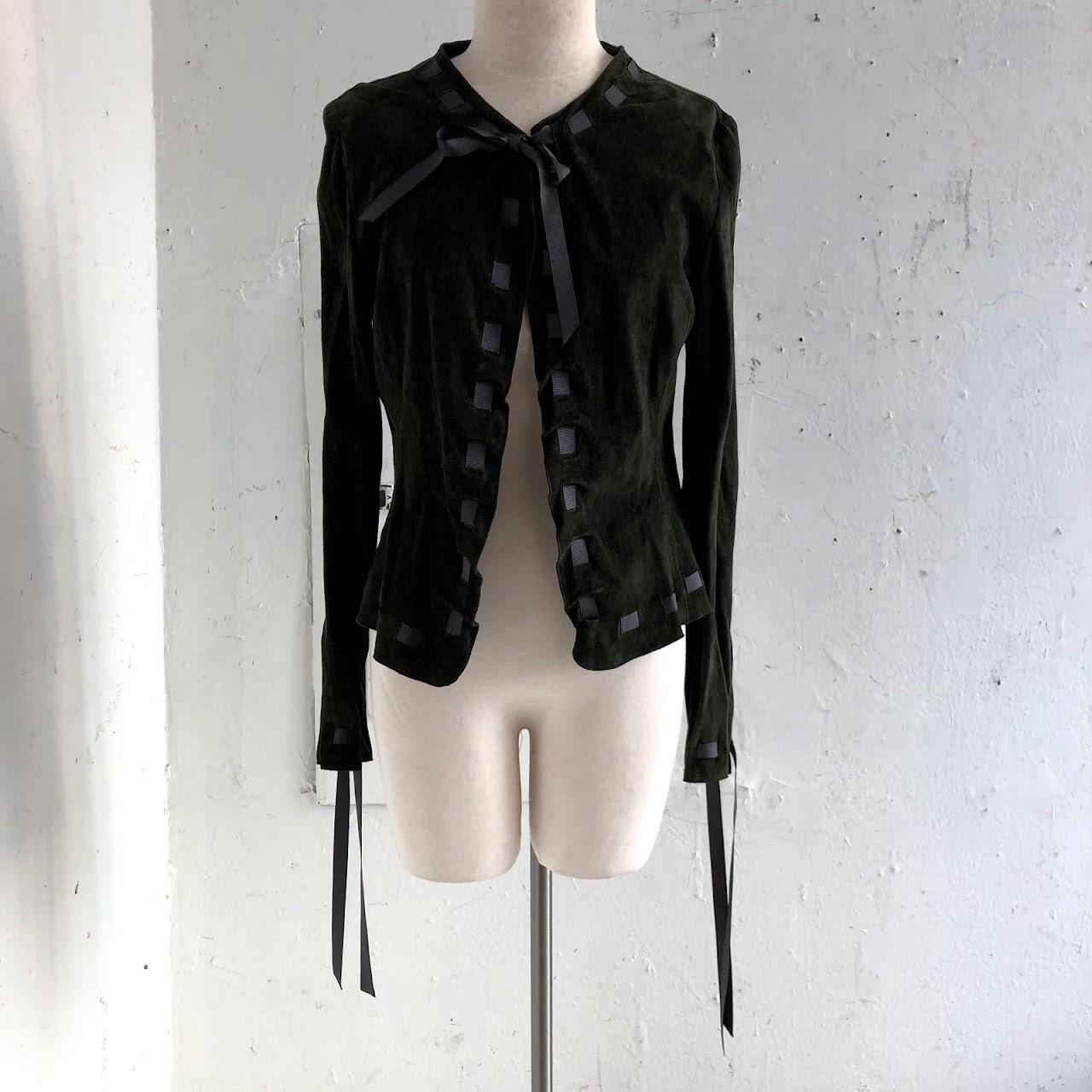 6240189c7cfc Armani Collezioni Suede Jacket | Shophousingworks