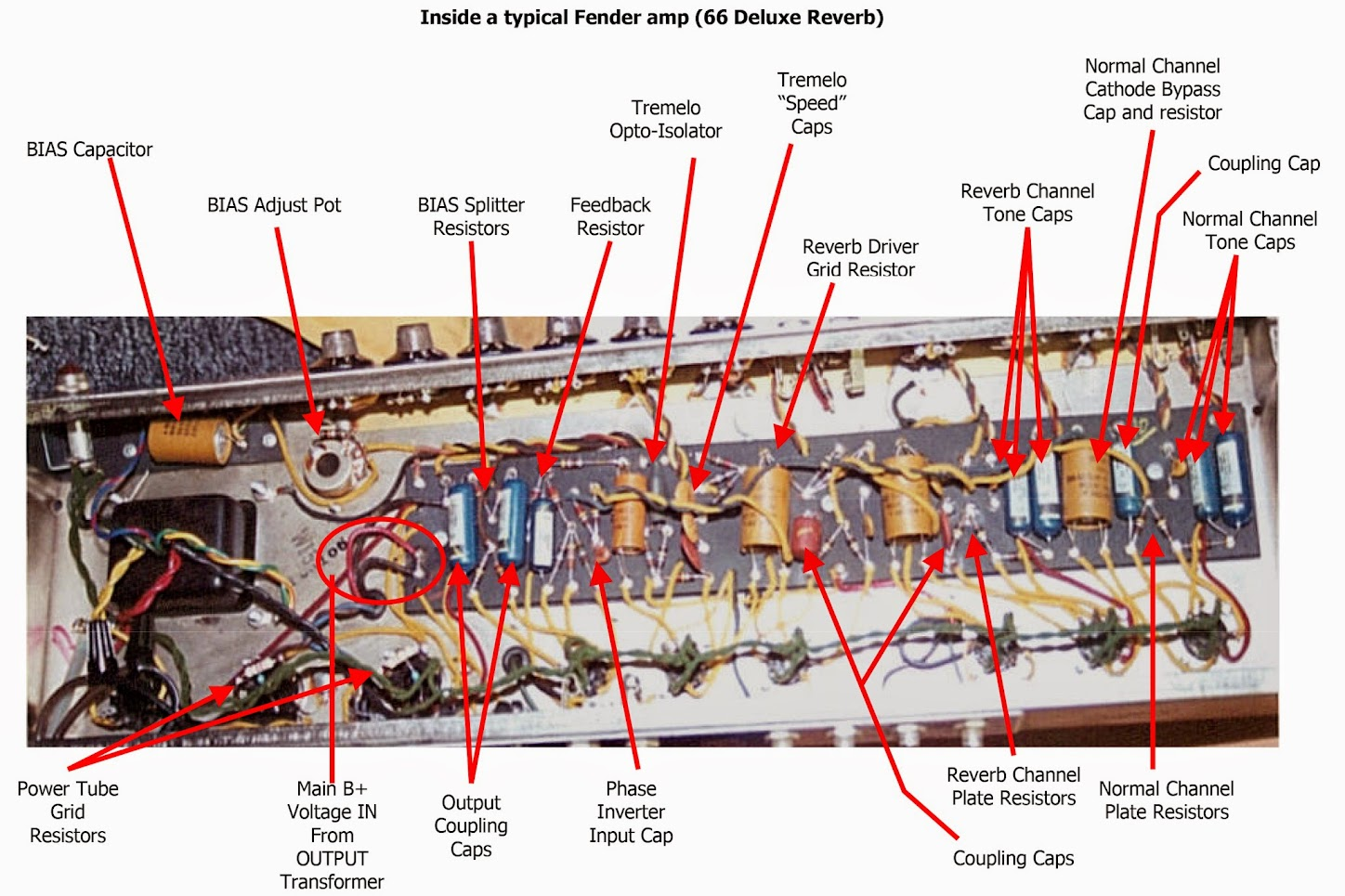 Wiring Diagram Help The Gear Page Library Power Tube Grid Resistors On Fenders There Are Usually 470 Ohm 1 Watt Affixed Here Amplifier Guts Terms And Locations