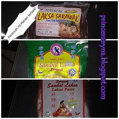 resepi laksa sarawak. pes laksa Sarawak pula.