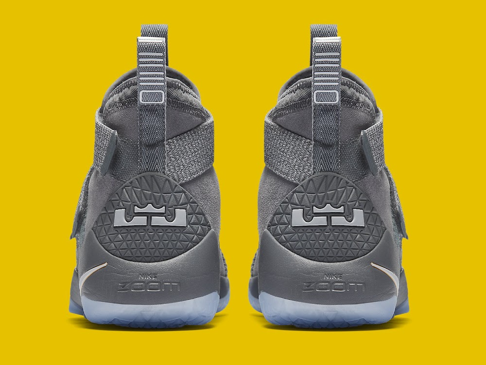 new arrival c8f57 76421 ... Available Now LeBron Soldier 11 Cool Grey With a Touch of Gold