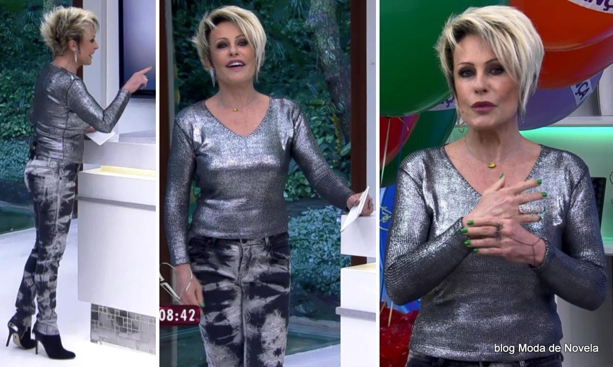 moda do programa Mais Você - look da Ana Maria Braga dia 11 de junho