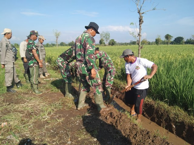 Satgas TMMD Loteng Ratakan Jalan penghubung antar Dusun