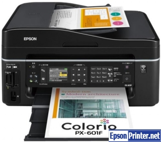 Reset Epson PX-601F lazer printer by software