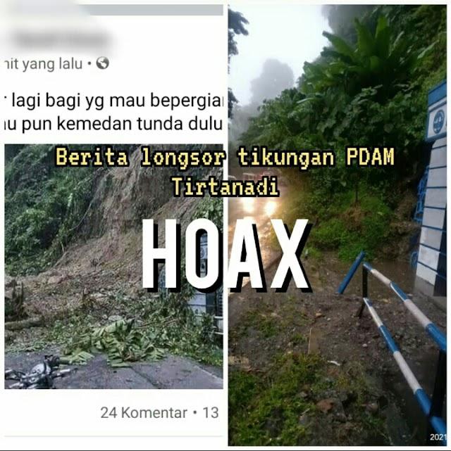 Kompol Dedy Dharma, SH: Hoax Info Longsor Di PDAM Tirtanadi Sibolangit